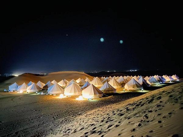【天赐沙漠星空露营---体验摩洛哥式帐篷】两日游